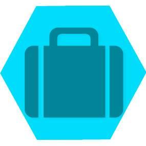 Gen viagens blue hexago